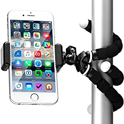 Flexible iPhone Tripod with Cell Phone Mount Adapter - Cell Phone Tripod for iPhone 7, Smartphones, Android, Digital Cameras & Webcams - BEST Gorilla Tripod Mini Stand for Any Smartphone