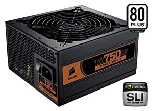 Corsair CMPSU-750TX 750-Watt TX Series 80 Plus Certified Power Supply compatible with   Core i7 and Core i5