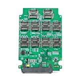 10 ports Micro SD TF Memory Card to SATA SSD Adapter with RAID Quad 2.5