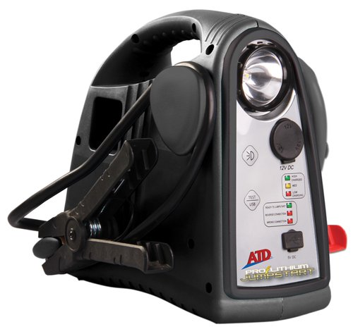 ATD Tools (5900) 12V Lithium Powered Premium Cordless Rechargeable Jumpstart Unit