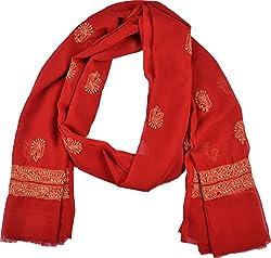 Knool Women's Dupatta (Red)