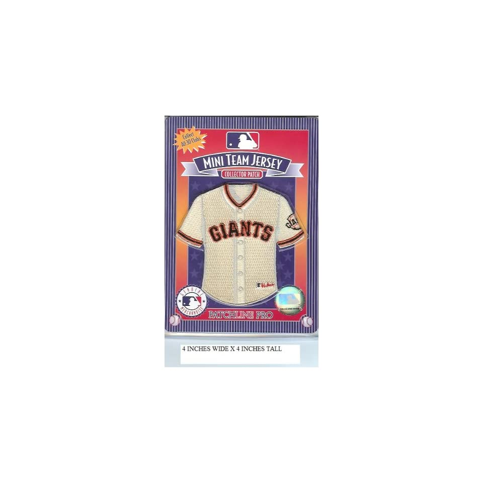 San Francisco Giants Mini Jersey Patch   Official MLB Licensed