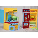 Kidoloop Cooking Kitchen Opening Fridge Play Set Toy Light & Music for kids