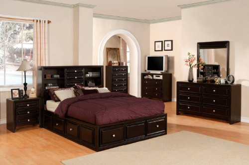 Best You need to tend not to pause to buy Inland Empire Furniture Queen Size Yorkville Espresso Solid Wood Multi Drawer Platform Bed with Bed Set now