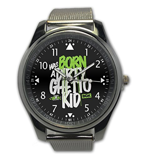 Dgk Life Custom Green Black Face Design Snap On Watch Stainless Steel