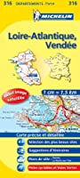 Carte DPARTEMENTS Loire-Atlantique, Vende