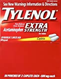 Tylenol Extra-Strength, 2-Caplet Dosage, Box Of 50 Individually Wrapped