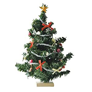 Dollhouse Miniature Christmas Tree with Ornaments