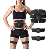 Muscle Toner URFitnessX Abdominal Waist Toning Trainer Belt EMS Slim 6 Pack Ab Fat Burner Wireless Body Gym Workout Home Office Fitness Equipment For Abdomen Arm Leg Men Women
