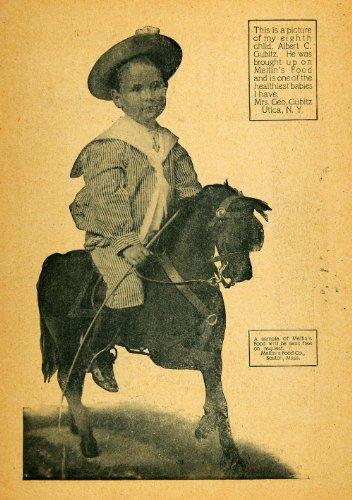 1903 Ad Mellins Baby Food Albert Gubitz Children Boston - Original Print Ad front-1019077