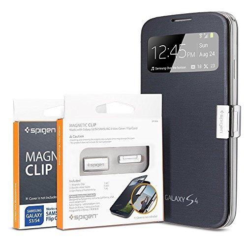 国内正規品Samsung Spigen Galaxy S4 純正フリップ カバーマグネティック・クリップマグネティック ホールド for Samsung S View Cover(SGP10696)
