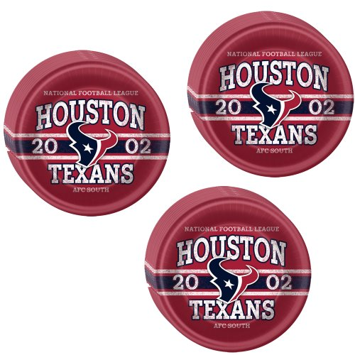 NFL Houston Texans Party Lunch/Dinner Plates - 24 Guests