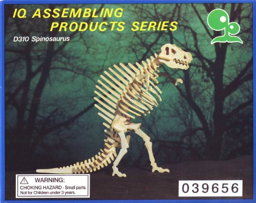 IQ ASSEMBLING PRODUCTS SERIES :D310 SPINOSAURUS Dinosaur Model Kit, Wood, Balsa - 1