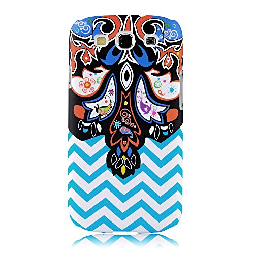 S3 Case, Galaxy S3 Case - Mollycoocle Fashion Style Colorful Painted Pattern Pc Hard Cover Case For Samsung Galaxy S3 I9300 T-Mobile T999 L710 Sprint/T999 T-Mobile/I747 At&T/I535 Verizon(Ripple)