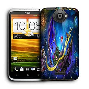 Snoogg Puppeteer In The Moon Printed Protective Phone Back Case Cover For HTC One X