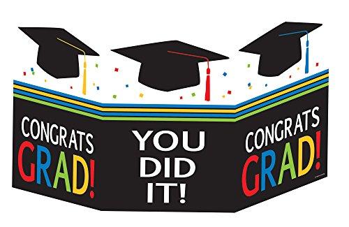 Creative Converting Graduation Cap Accordion Centerpiece