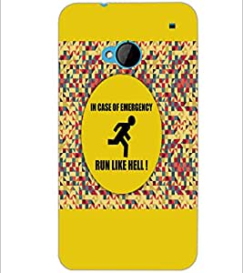 PrintDhaba Quote D-3524 Back Case Cover for HTC ONE M7 (Multi-Coloured)