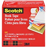 Scotch Book Tape , 2 Inches x 15 Yards, (845) (2, 2 Inches x 15 Yards)