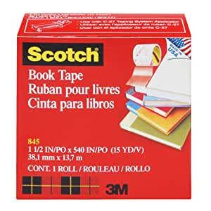 Scotch(R) Book Tape 845, 1-1/2 Inches x 15 Yards