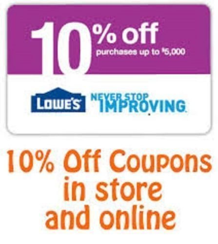 (3) Three Lowe's 10% Off Printable-Coupons – Exp 11/15/16 – Fast Email Delivery!
