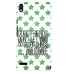 PrintDhaba QUOTE D-7096 Back Case Cover for HUAWEI ASCEND P6 (Multi-Coloured)
