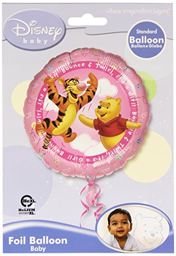 Anagram International Pooh it's a Girl Foil Balloon, Multicolor - 1