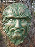 We are proud to present the Large Green Man Wall Plaque/garden Ornament