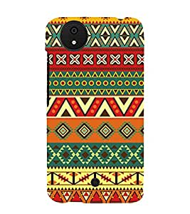 Indian Ethenic Tribal 3D Hard Polycarbonate Designer Back Case Cover for Micromax Android A1 :: Micromax Canvas A1 AQ4502