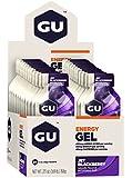 GU ENERGY Original Sports Nutrition Energy Gel, Jet Blackberry, 24-Count