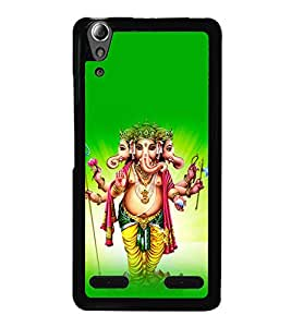 printtech Lord God Ganesha Back Case Cover for Lenovo A6000 Plus