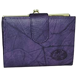 Buxton Heiress Double Cardex&trade-Exclusive Colors (Mulberry)