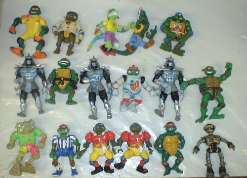 Picture of Playmates Loose Lot of 17 Teenage Mutant Ninja Turtles Loose Figures (B004K2FU5E) (TNMT Action Figures)