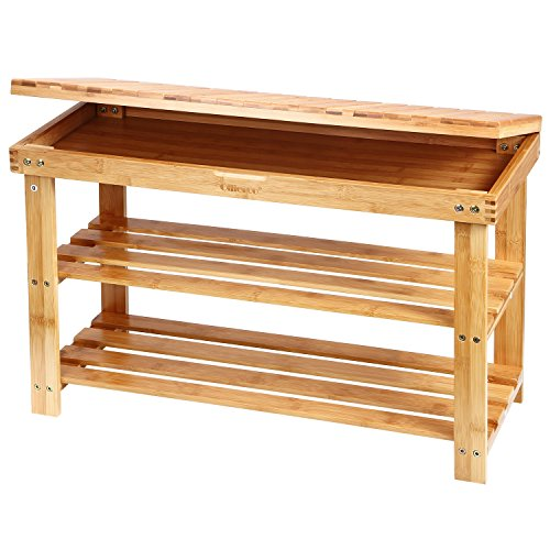 ollieroo-2-tier-entryway-natural-bamboo-shoe-rack-household-shelf-storage-bench-organizer-foot-stool