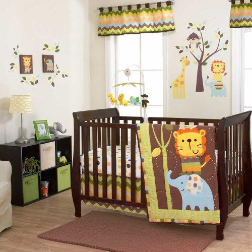 Zuzu & Friends 3 Piece Baby Crib Bedding Set By Belle front-480666