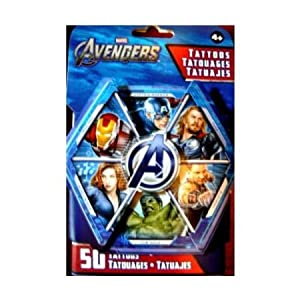 Amazon.com: Marvel Avengers Temporary Tatoos - 50 Tattoos per package