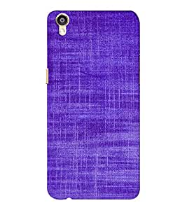 EPICCASE Viloet textured Mobile Back Case Cover For Oppo F1 Plus (Designer Case)