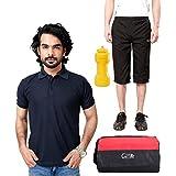 Elligator Stylish Capri, T-Shirt, Gym Bag And Sipper Combo - B00W7FDUUS