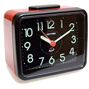 Despertador Rhythm 4ra-889-R01 Sonido Campana Luminescente marca Rhythm