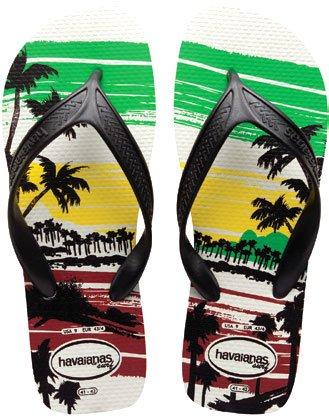 [ハワイアナス] havaianas SURF サーフ ビーチサンダル ブラジル製 国内正規品 (41/42(26.0~27.0), ホワイト/ブラック0128)