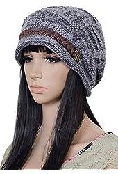 Women Winter Snowboarding Knit Snow Warm Hat Beanie Crochet Cap