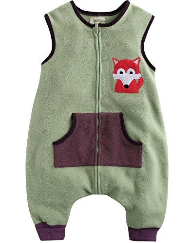 Vaenait Baby Little Girl'S Micro Fleece Blanket Sleeper M Green