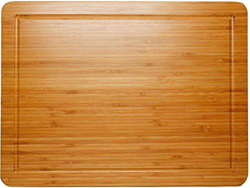 Best Cutting Board & Chopping Block, Double Sided, Juice Groove Bamboo by Somarian, 3/4 Inch Thick, 100% Natural Moso Bamboo, Kitchen Must-Have, Makes a Great Gift for Home Cooks and Chefs (Large) (Butcher Block Bar compare prices)