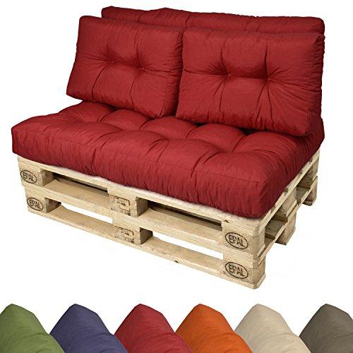 Paletten-Kissen-Sitzkissen-120x80x15-cm-Palettenauflage-in-Rot-Paletten-Polster-fr-Europaletten