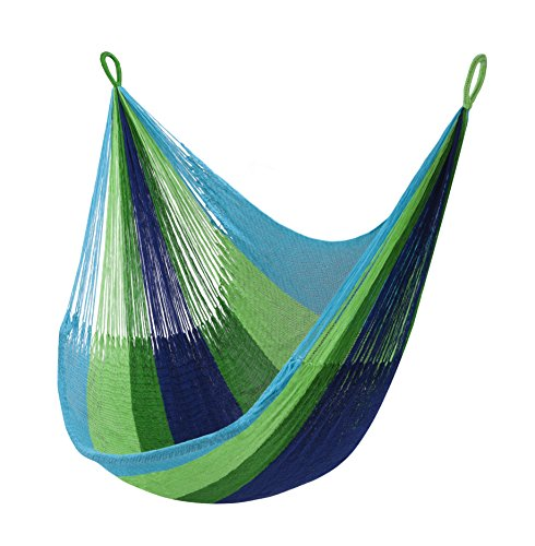 Yellow Leaf Hammocks: Handmade Tropical Blue-Green Hanging Chair