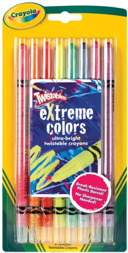 Bulk Buy: Crayola Twistables Extreme Crayons 8/Pkg-Bright Neon (3-Pack) - 1