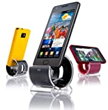 Sinjimoru Sync and Charge Dock Stand for Samsung Galaxy S4, S3, S2, SII, i9100, Verizon Galaxy Nexus by Samsung (Color Option: BLACK - Micro USB Cable Included)