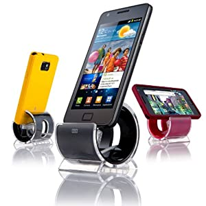 Sinjimoru Sync and Charge Dock Stand for Samsung Galaxy S2, SII, i9100, Verizon Galaxy Nexus by Samsung (Color Option: BLACK - Micro USB Cable Included)