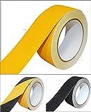 B.H. Select すべり止め ノンスリップ テープ 50mm×5m 階段 床 屋外 屋内 はがれにくい 耐久性 防水 (イエロー(2個セット)) BH68-2