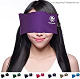 Yoga Eye Pillow - Lavender Eye Pillow For Yoga - Best Namaste Yoga Eye Pillows Made in USA. Use Hot or Cold for Stress Relief, Headaches, Sinus Pain & to Relax. By Happy Wraps The Perfect Gift! (Purple)