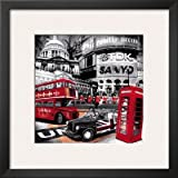 London Piccadilly Circus Framed Art Poster Print, 19x19